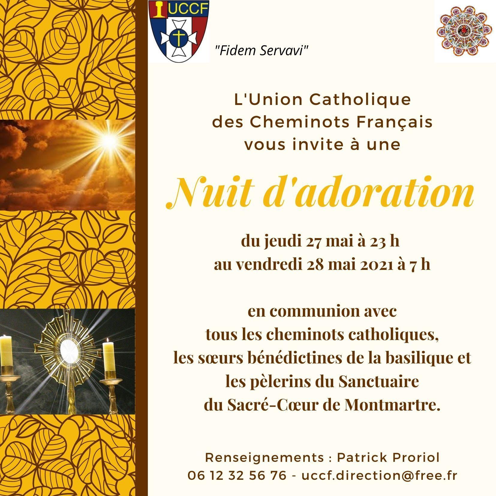 Invitation nuit d adoration mai 2021